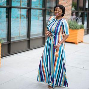 Dresses & Skirts - Colorful stripe maxi dress